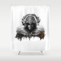 assassins creed Shower Curtains featuring assassins creed ezio auditore by ururuty