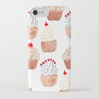 cupcakes iPhone & iPod Cases featuring Cupcakes by Bouffants and Broken Hearts