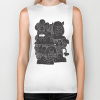 monsters Biker Tanks featuring MONSTERS by Matthew Taylor Wilson