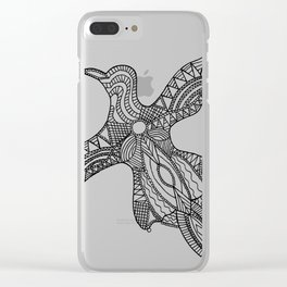 Nothing is just black or white Clear iPhone Case