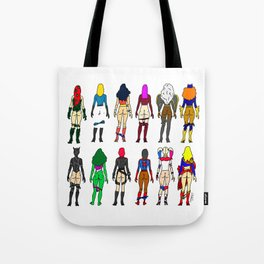 Superhero Butts - Girls Superheroine Butts LV Tote Bag