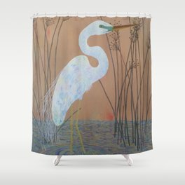 Unicorn Egret Shower Curtain