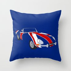 Shaguar (On Blue) Throw Pillow