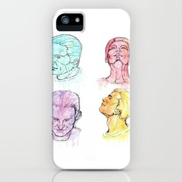 Watercolor man, four angles iPhone Case