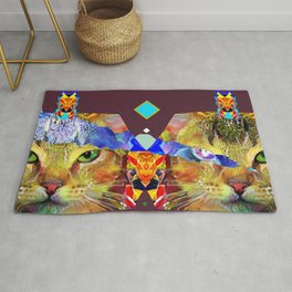 Fancy Egyptian Cats Rug