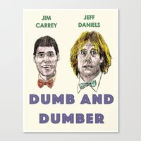 dumb and dumber Canvas Prints featuring Dumb and Dumber by AdrockHoward