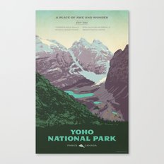 Yoho National Park Poster Canvas Print