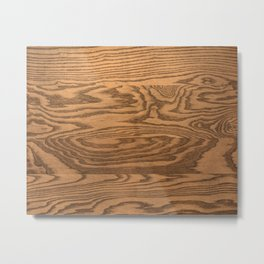 Wood 5, heavily grained wood Horizontal grain Metal Print