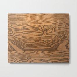 Wood 5, heavily grained wood Horizontal grain Metal Print