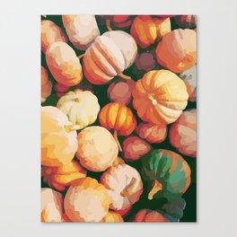 Pumpkins - fall - autumn - halloween - october - vegatable - cuisine - chef Canvas Print