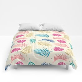 Tropical summer plants pattern Comforters