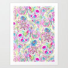 Paisley Watercolor Brights Art Print