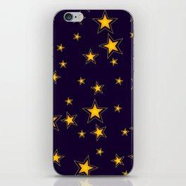 Shining Stars Seamless Pattern iPhone Skin