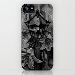 wordsunsaid bw iPhone Case