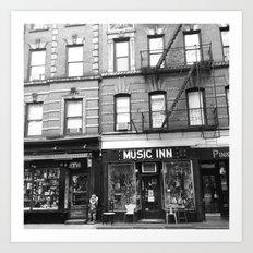 'Music Inn' New York Art Print
