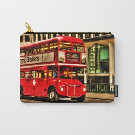 Trafalgar Square London Double Decker Bus Carry-All Pouch