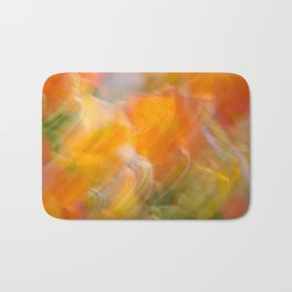 Sweeping Orange Strokes Bath Mat