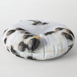 Watercolor Poop, Elk 01, Moraine Park, RMNP, Colorado Floor Pillow