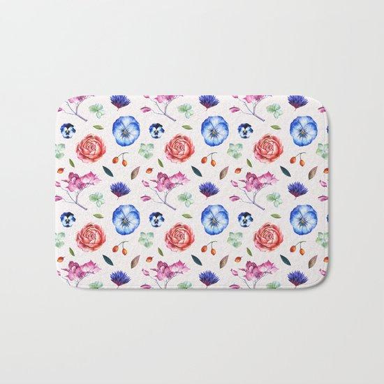 Spring flower patterns Bath Mat