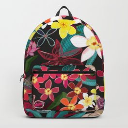 Botanical Flowers Colorful Pattern Backpack