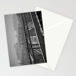 Tales of a Subway Train in Black and White Stationery Cards