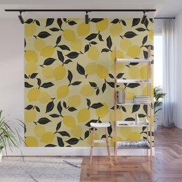 Seamless Citrus Pattern / Lemons Wall Mural