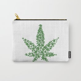 Marijuana Pot Leaf made of many cannabis weed leaves Carry-All Pouch