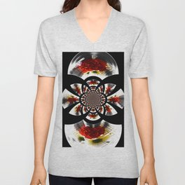 Mirror Image Abstract Unisex V-Neck