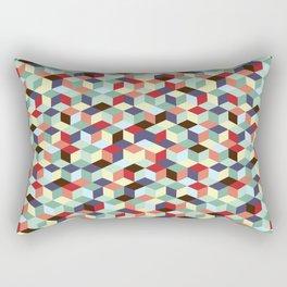 Colorful cubes Rectangular Pillow