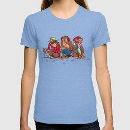 Three Wise Hipster Monkeys T-shirt