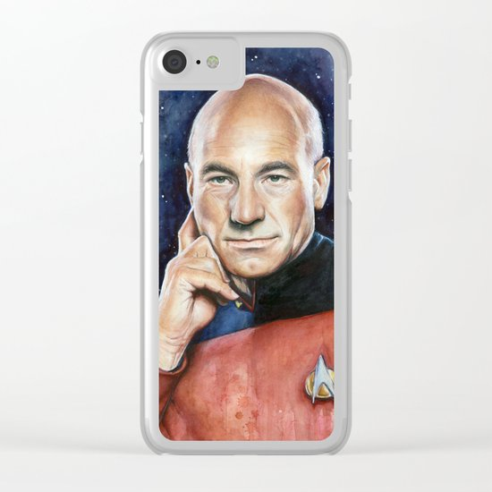 Captain Picard Clear iPhone Case