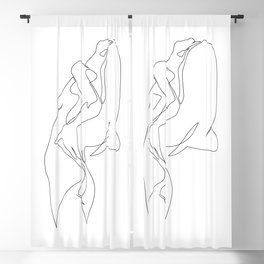 One line nude - e 5 Blackout Curtain