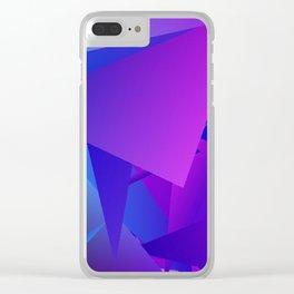Rhapsody in Blue 3 Clear iPhone Case