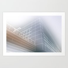 Minimalist architect drawing Art Print