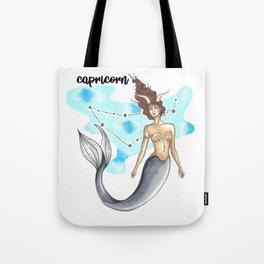 Capricorn Mermaid Tote Bag