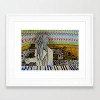 beth hoeckel Framed Art Prints featuring beth by Laura Eckes