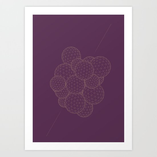 Wireframe Art Print