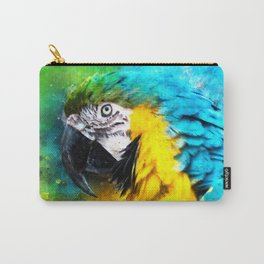 Yellow Blue Cyan Macaw Parrot Bird Animal Wildlife Parrot Lover Gift Carry-All Pouch
