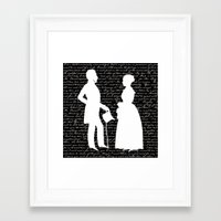 pride and prejudice Framed Art Prints featuring Pride and Prejudice design by Evie Seo