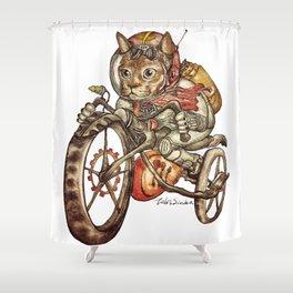 Berserk Steampunk Motorcycle Cat New Color Shower Curtain