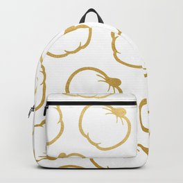 Gold and White Pumpkin Pattern Backpack