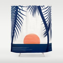 Winter Sunset / Abstract Landscape Shower Curtain