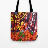 lichtenstein Tote Bags featuring LICHTENSTEIN/PLUTO by Brandon Neher