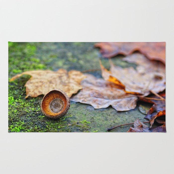 Shaking down the acorns Rug