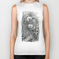 owls Biker Tanks featuring Owls by Irina Vinnik