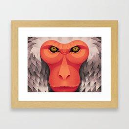 Japanese Monkey Framed Art Print
