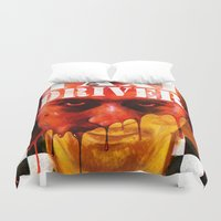 taxi driver Duvet Covers featuring Taxi Driver by ChrisNygaard