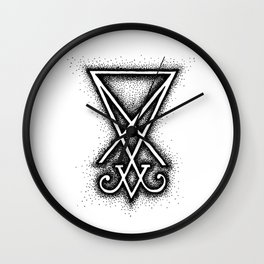 Sigil Of Lucifer Wall Clock