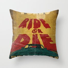 MEKANO TURBO/ride or die poster Throw Pillow