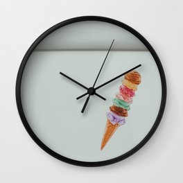 Ice cream | summer vibe art photography | colorful art in Utrecht  Wall Clock